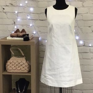 Peserico Off White Textured Shift Dress Size 8